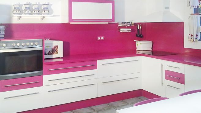 Cocina rosa15 - Cocinas rosa fucsia ...