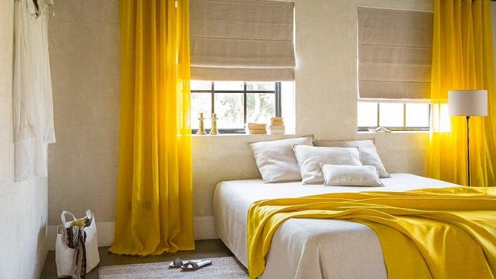 dormitorio amarillo foto