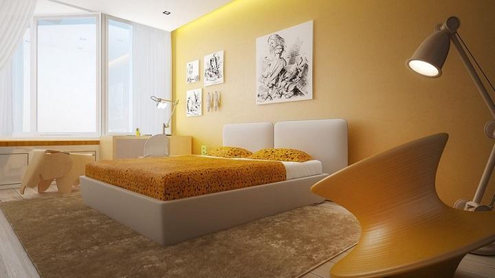 dormitorio amarillo foto1