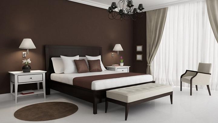 dormitorio marron foto