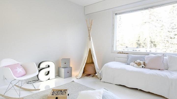 Fotos de habitaciones infantiles de color blanco - Dormitorios infantiles blancos ...
