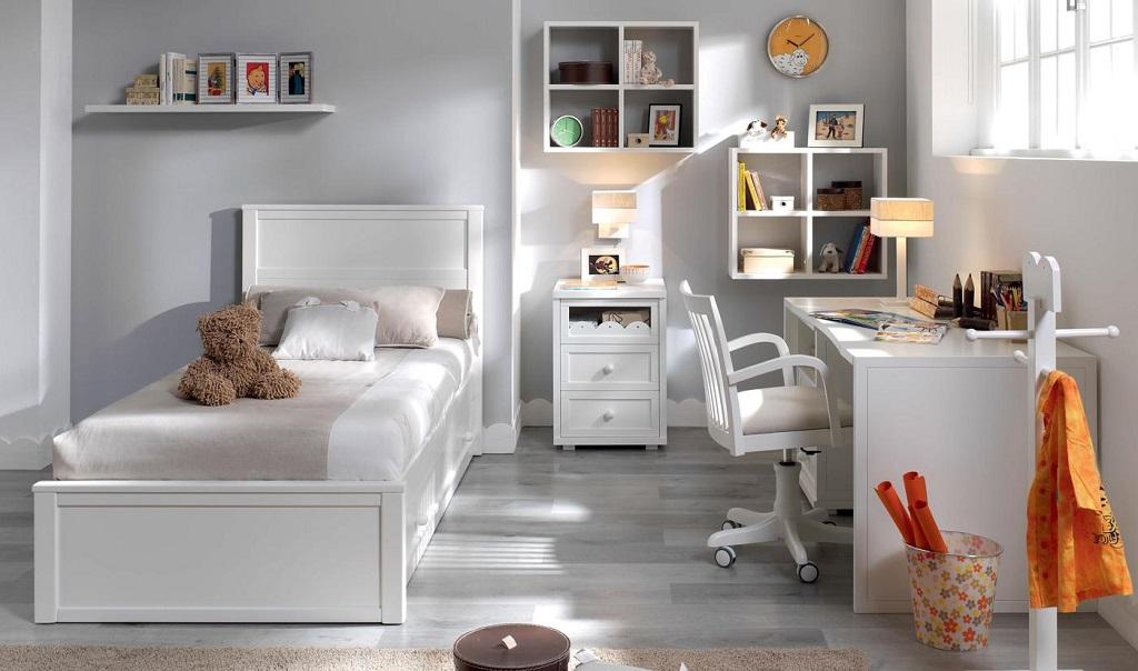 Fotos de habitaciones infantiles de color blanco (1241)