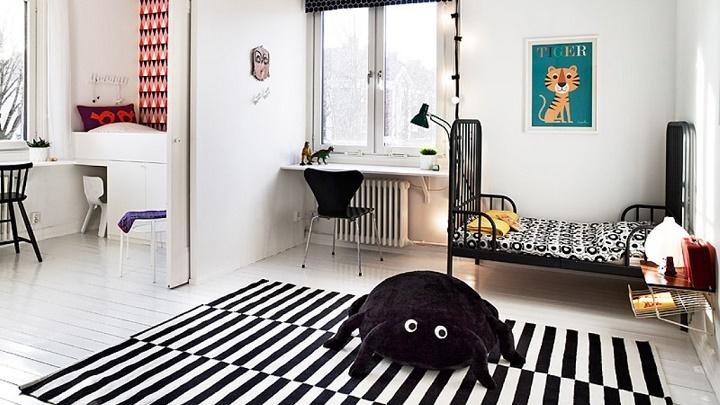 habitacion infantil color blanco