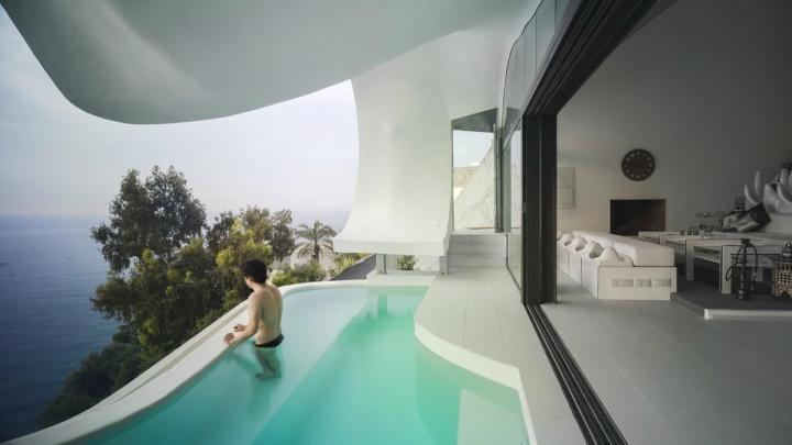 Casa acantilado piscina