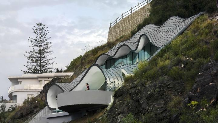 Casa acantilado terraza