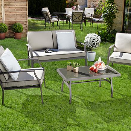 Conjuntos de muebles con mesa baja1 for Conjuntos de jardin leroy merlin