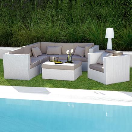 Conjuntos de muebles con mesa baja15 for Conjuntos de jardin leroy merlin