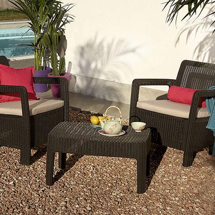 Conjuntos de muebles con mesa baja18 - Muebles de salon leroy merlin ...