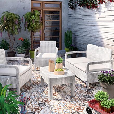 Conjuntos de muebles con mesa baja19 for Conjuntos de jardin leroy merlin