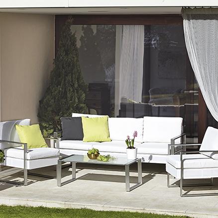 Conjuntos de muebles con mesa baja3 for Muebles de terraza leroy merlin