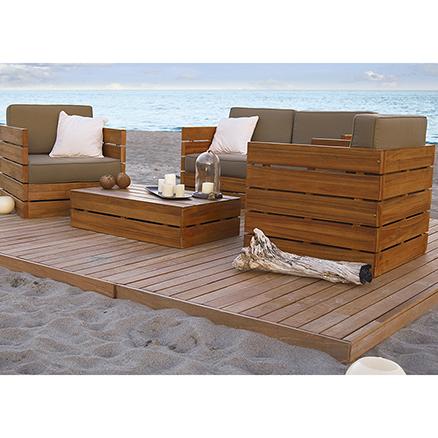 Conjuntos de muebles con mesa baja38 - Muebles jardin leroy ...