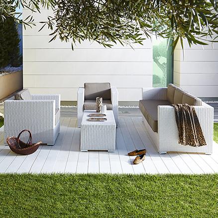 Conjuntos de muebles con mesa baja43 for Leroy muebles jardin