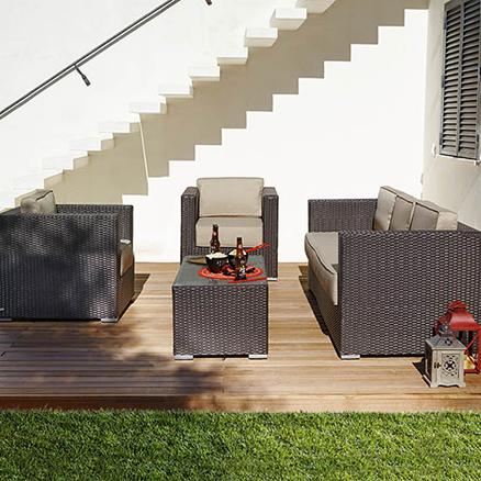 Conjuntos de muebles con mesa baja45 for Conjuntos de jardin con mesa alta