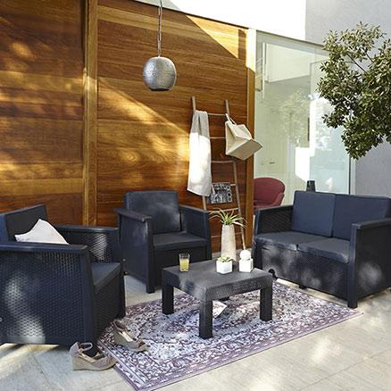 Conjuntos de muebles con mesa baja52 - Leroy merlin muebles de salon ...