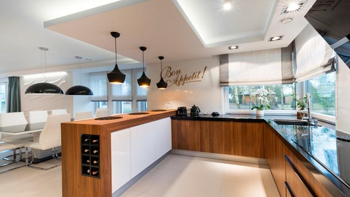 Fotos de cocinas con barra americana for Barras de cocina modernas
