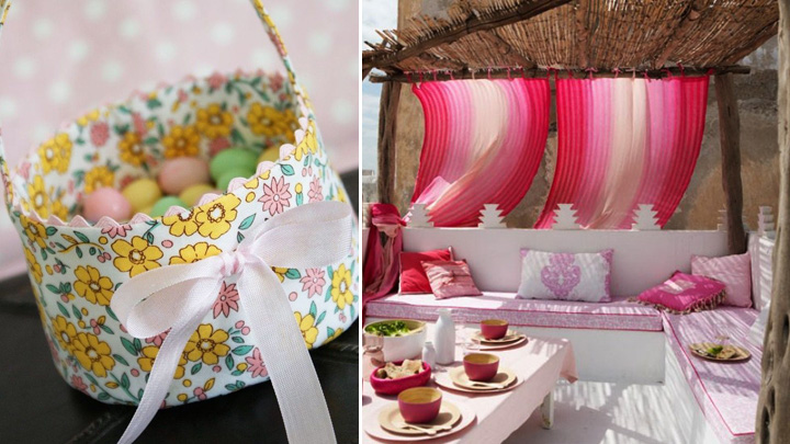 Sencillas ideas para decorar con telas - Decorar pared con tela ...