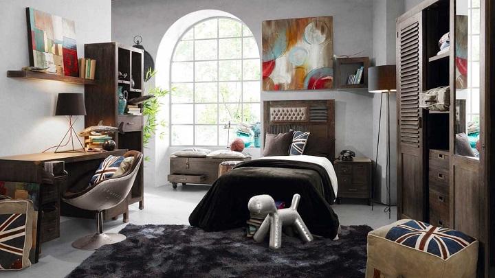 Fotos de habitaciones infantiles y juveniles de estilo for Habitacion decoracion industrial