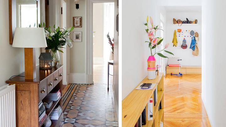 8 ideas para decorar pasillos estrechos - Mueble zapatero estrecho ...