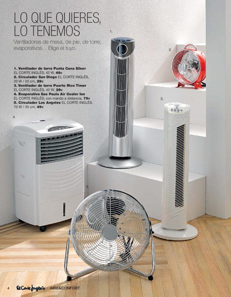 Instalacion Aire El Corte Ingles Good Convectores With  ~ Ventiladores De Techo Con Luz El Corte Ingles