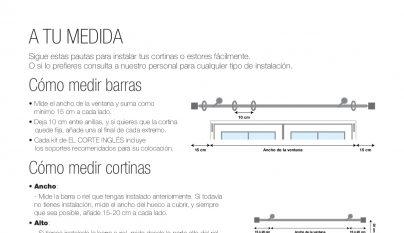 Barras de cortinas el corte ingles cortina de bao for Duchas modernas sodimac