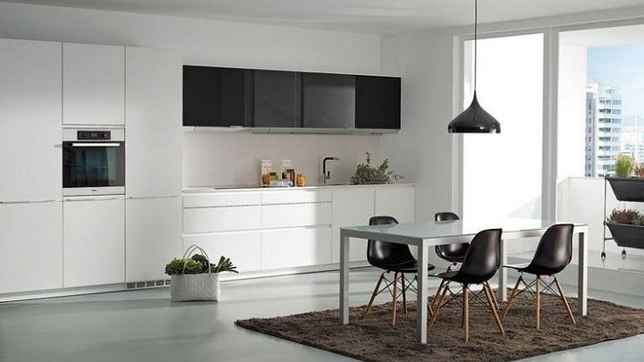Fotos de cocinas en blanco y negro - Cocinas decoradas en blanco ...