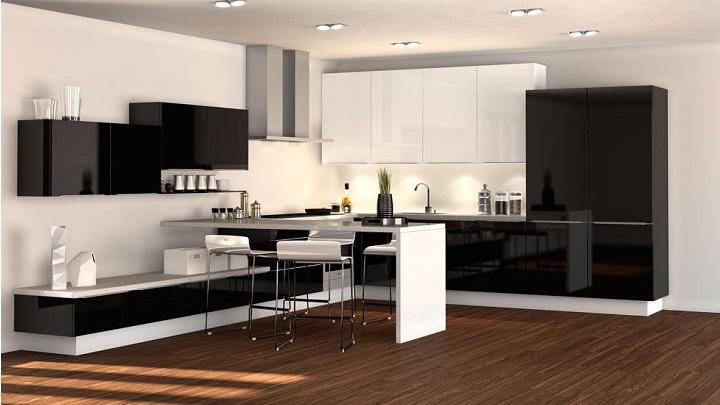 cocina blanco y negro foto2