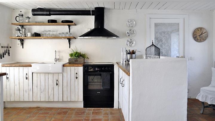 Fotos de cocinas en blanco y negro - Cocinas en blanco ...
