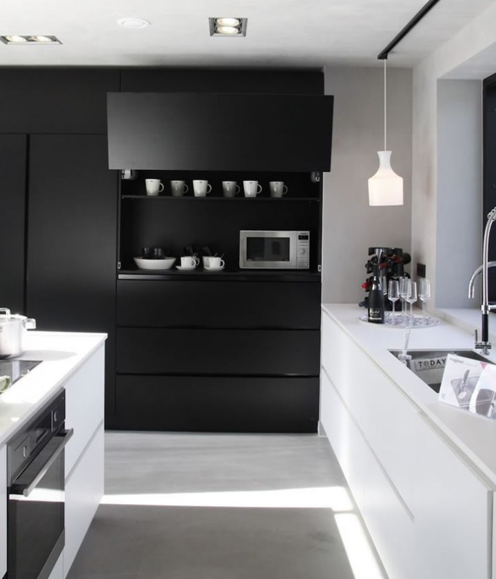 Cocina blanco y negro12 - Cocina blanco y negro ...