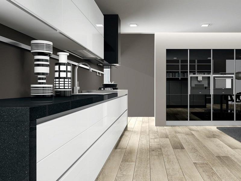 Cocina blanco y negro5 for Cocinas en blanco y negro