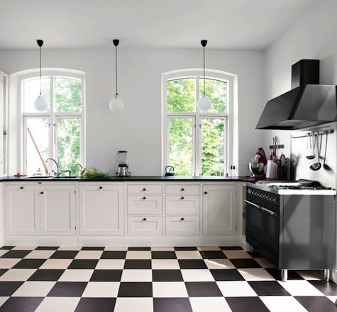 Cocina blanco y negro7 - Cocina en blanco y negro ...