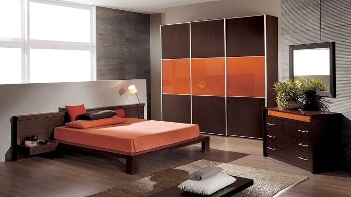 Fotos de dormitorios de color naranja for Dormitorio naranja