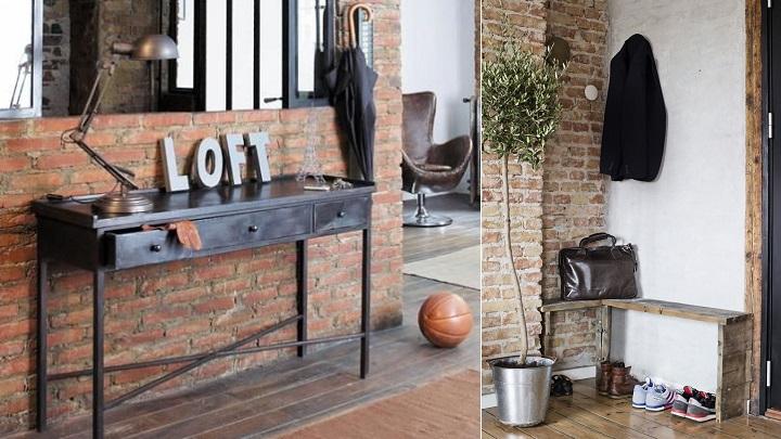 Fotos de recibidores de estilo industrial - Recibidor industrial ...