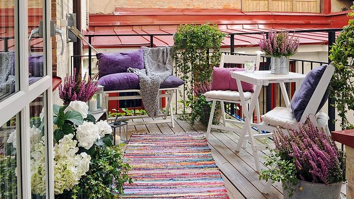 terraza balcon nordico foto