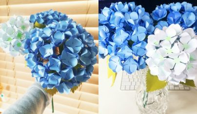 Hortensias papel DIY1