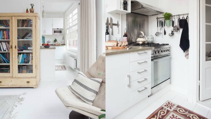 Piso soltero Haarlem cocina
