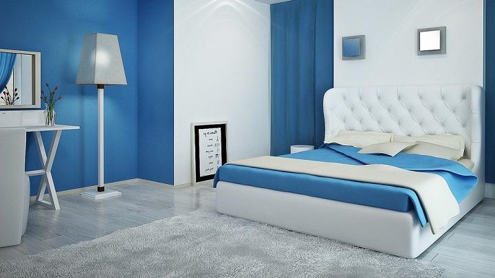 dormitorio blanco azul foto1
