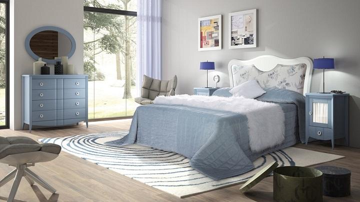 dormitorio blanco azul foto2