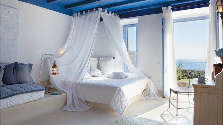 Fotos de dormitorios decorados en blanco y azul for Cuartos decorados azul