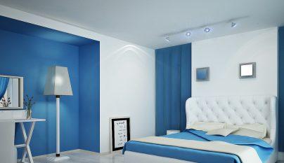 dormitorio blanco azul11