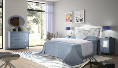 dormitorio blanco azul13