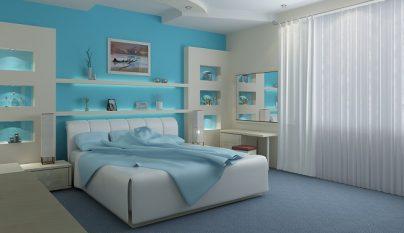 dormitorio blanco azul29