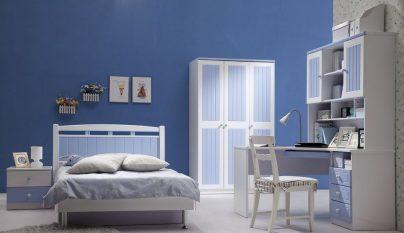dormitorio blanco azul36