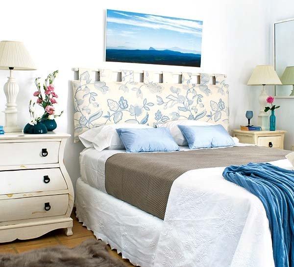 Dormitorio blanco azul4 for Cuartos decorados azul