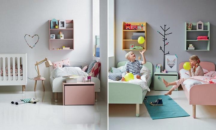 habitacion infantil nordica colores pastel 1