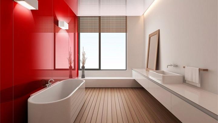 Baños En Rojo | Fotos De Banos De Color Rojo