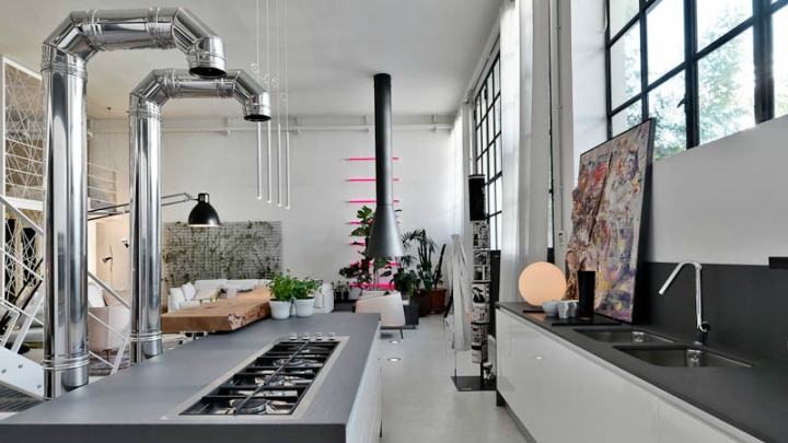 cocina loft milan