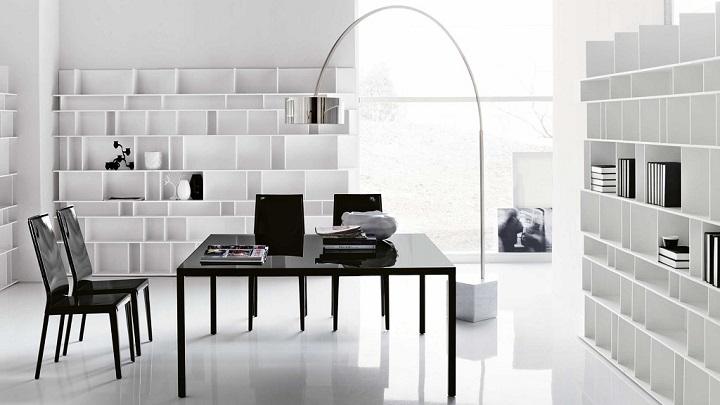 despacho blanco negro foto