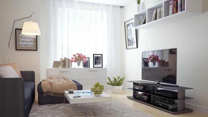 D nde poner la tele en el sal n - Donde colocar tv en cocina ...