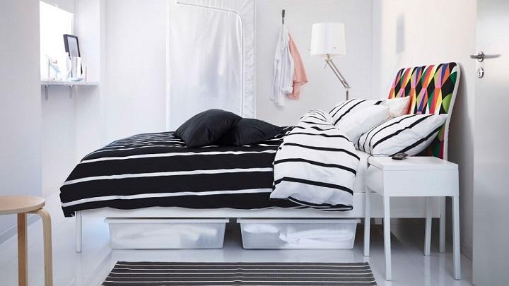 dormitorio blanco y negro foto