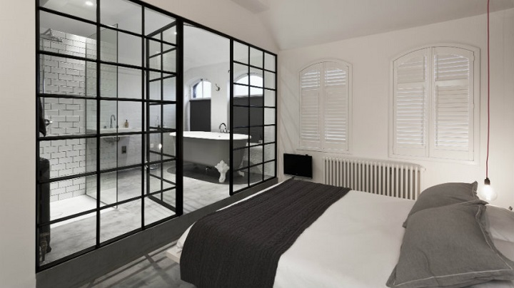 dormitorio blanco y negro foto1